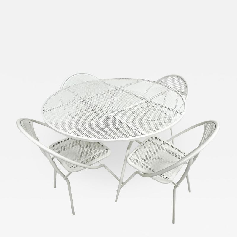 John Salterini Salterini Mid century Modern Patio Outdoor Dining Set Chairs and Dining Table