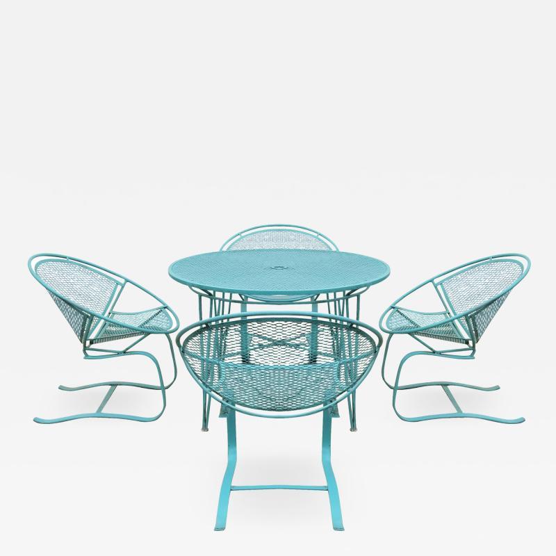 John Salterini Set of Four Radar Salterini Bouncer Chairs and Table Set