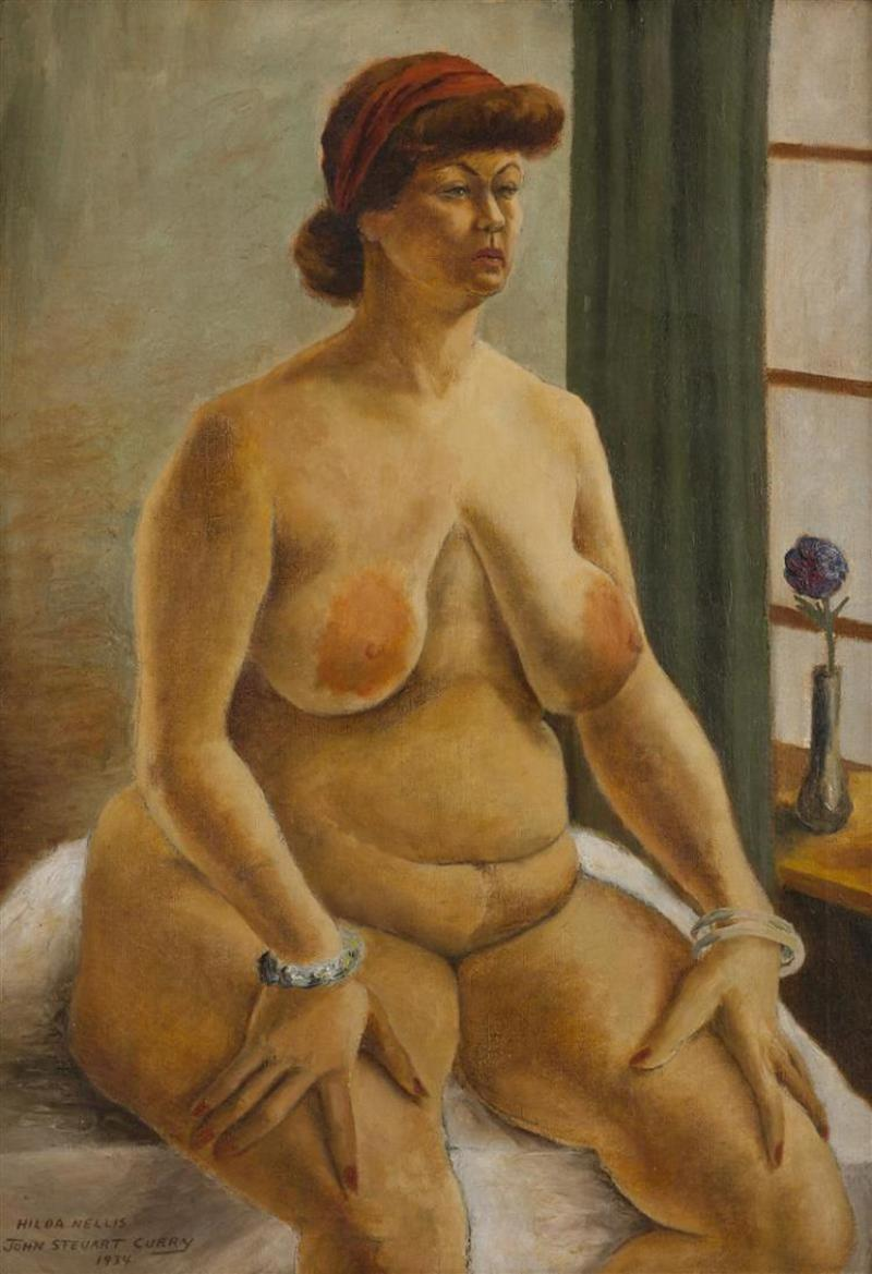 John Steuart Curry Hilda Nellis Seated Nude Woman