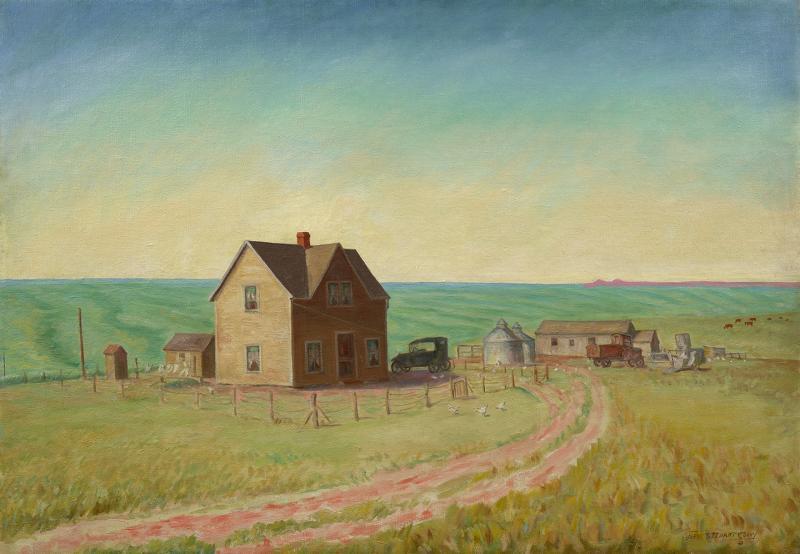 John Steuart Curry Kansas Wheat Field