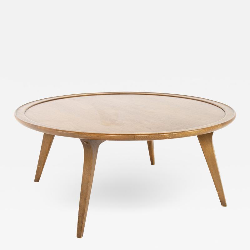 John Van Koert For Drexel Mid Century Round Coffee Table