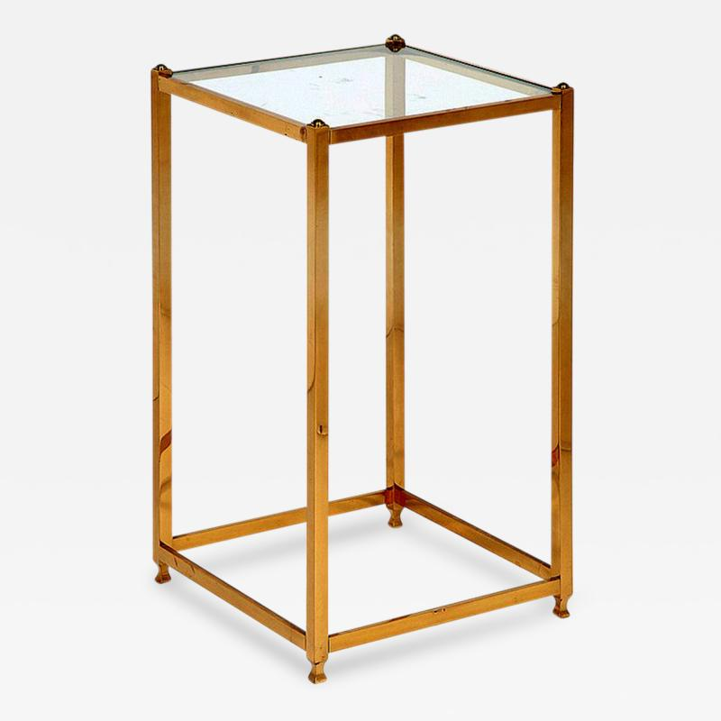 John Vesey A Brass Side Table by John Vesey