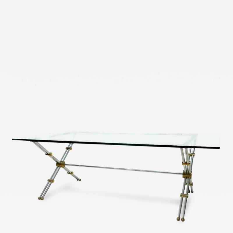 John Vesey Rare Brass and Chrome Table by John Vesey