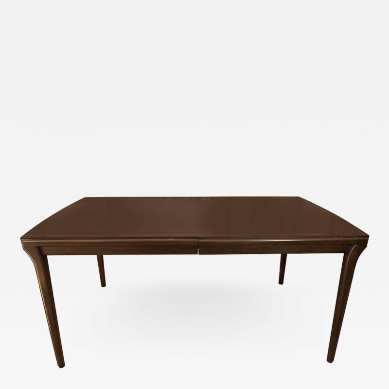 John Widdicomb Mahogany Extention Dining Table by John Widdicomb