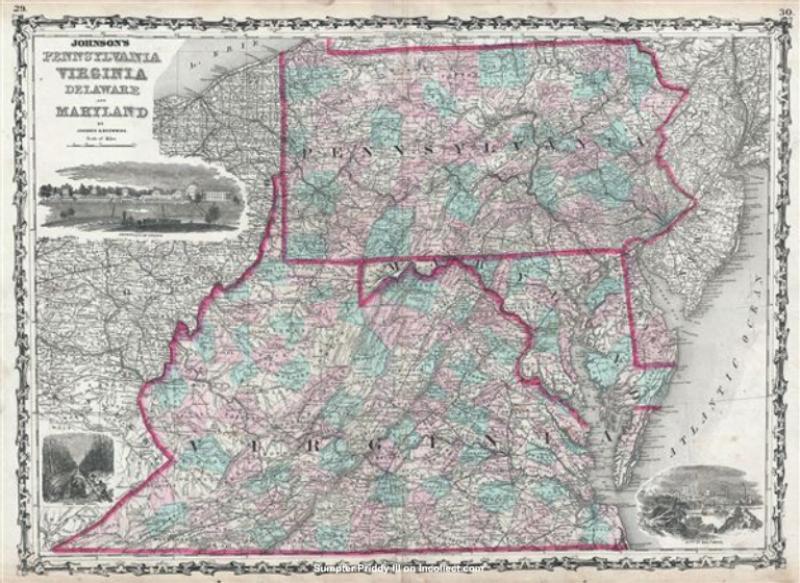 Similiar Map Of Maryland And Pennsylvania Keywords