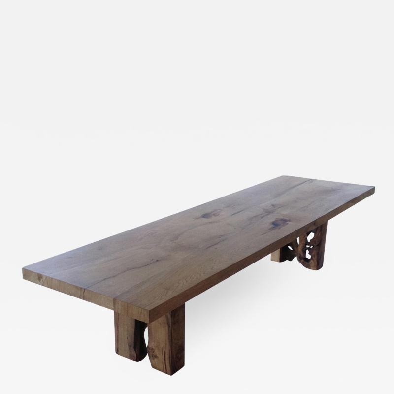 Jonathan Field English oak table for Clare