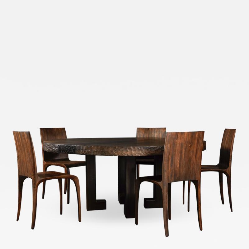 Jonathan Field Round Table in English Walnut