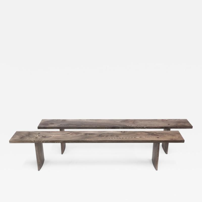 Jonathan Field Simple elm benches