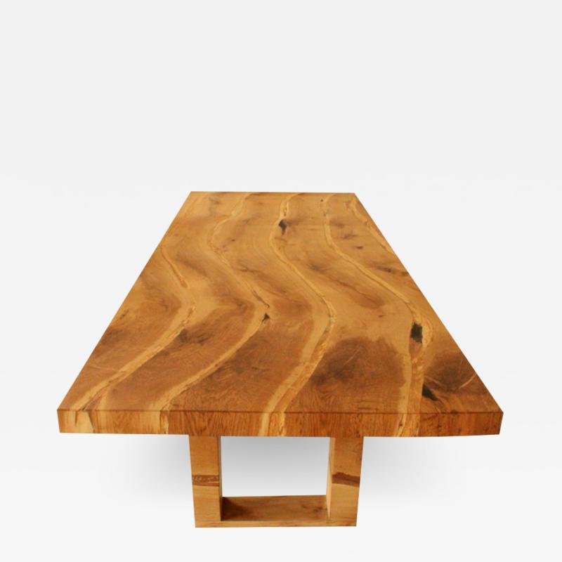 Jonathan Field Table in solid salvaged English oak for C J