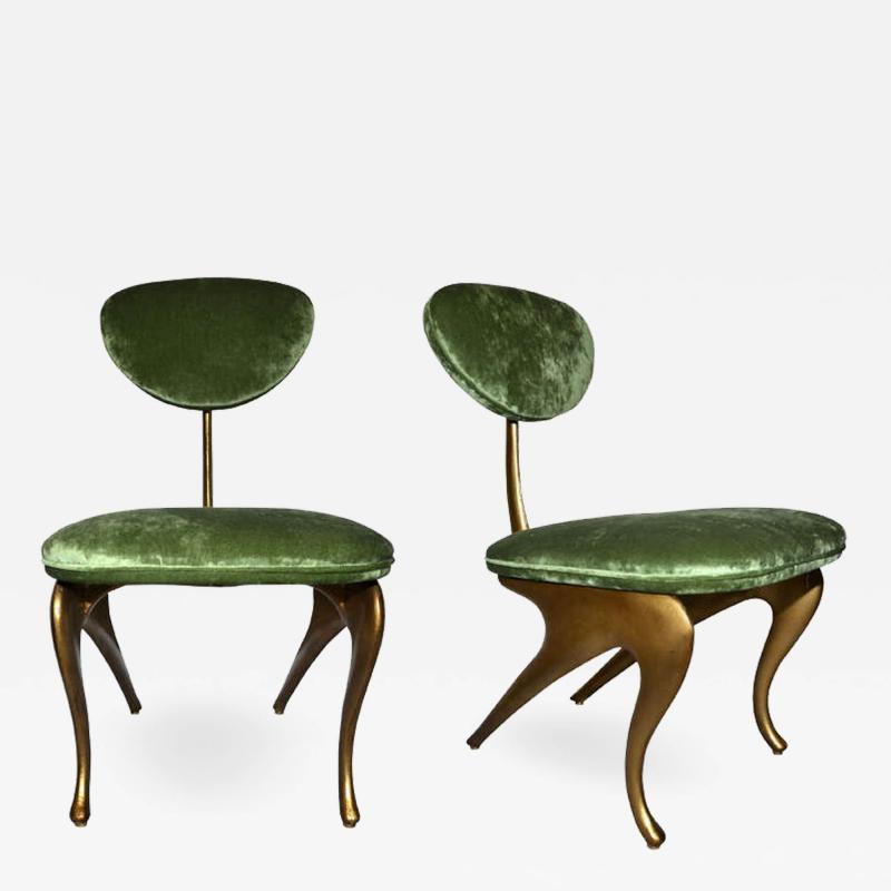 Jordan Mozer Rare incredible pair of armchairs designed by Jordan Mozer