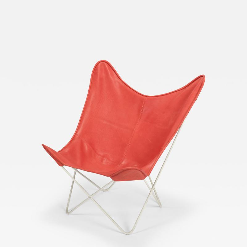 Jorge Ferrari Hardoy Butterfly Chair Ferrari Hardoy Leather Cotton