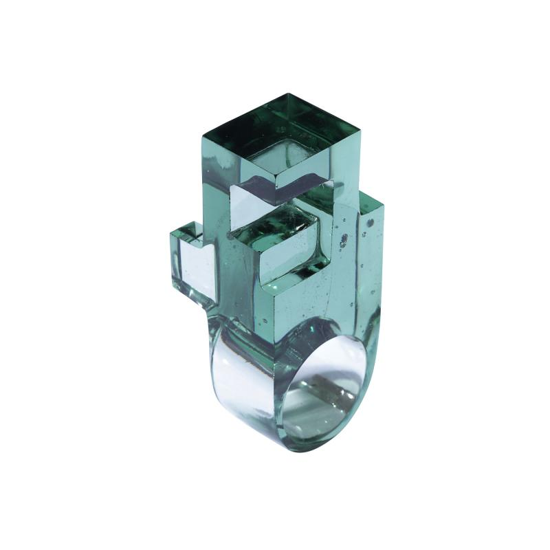 Jorge Y zpik RING GLASS 1 sculptural jewelry