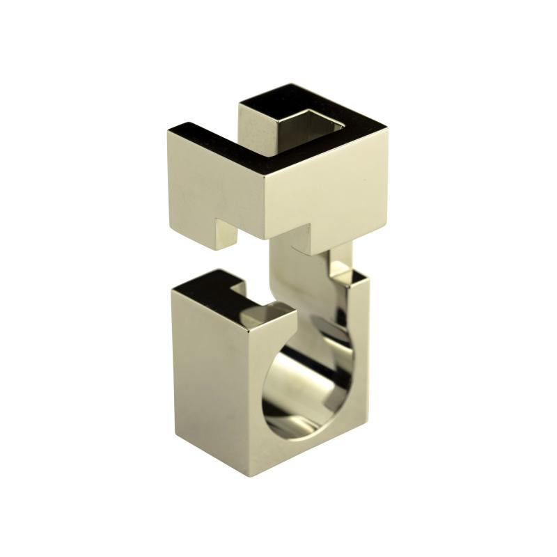 Jorge Y zpik RING STEEL 1 sculptural jewelry