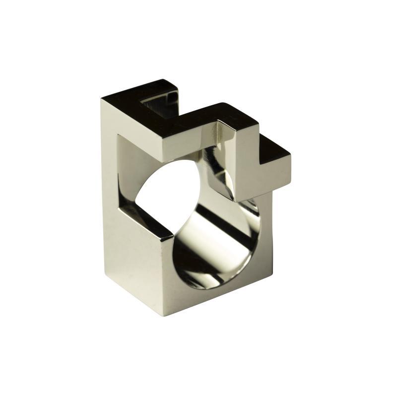 Jorge Y zpik RING STEEL 2 sculptural jewelry