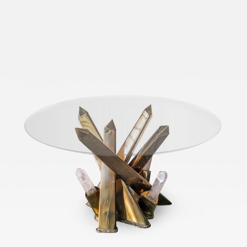 Jos De Matos Rock crystal sculpture table