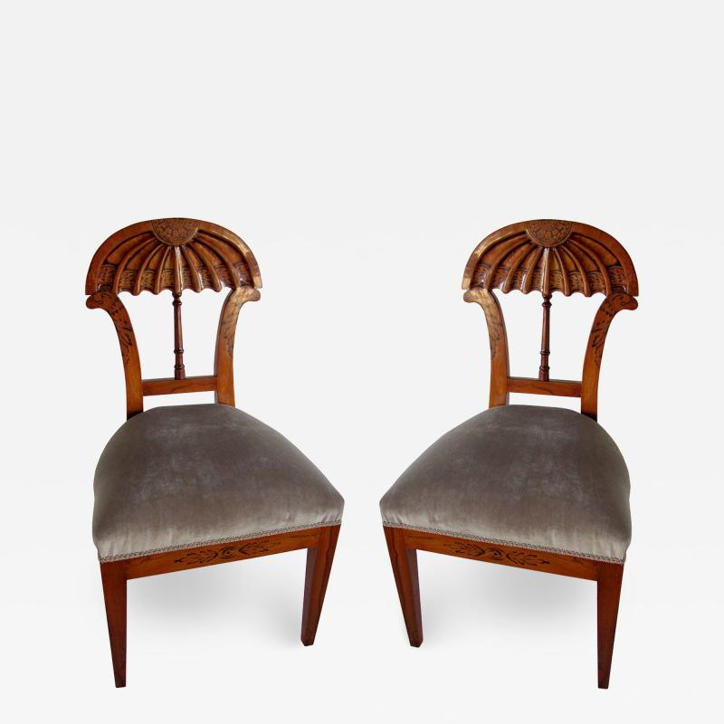 Josef Danhauser A Superb Set of Ten Viennese Biedermeier Dining Side Chairs Josef Danhauser