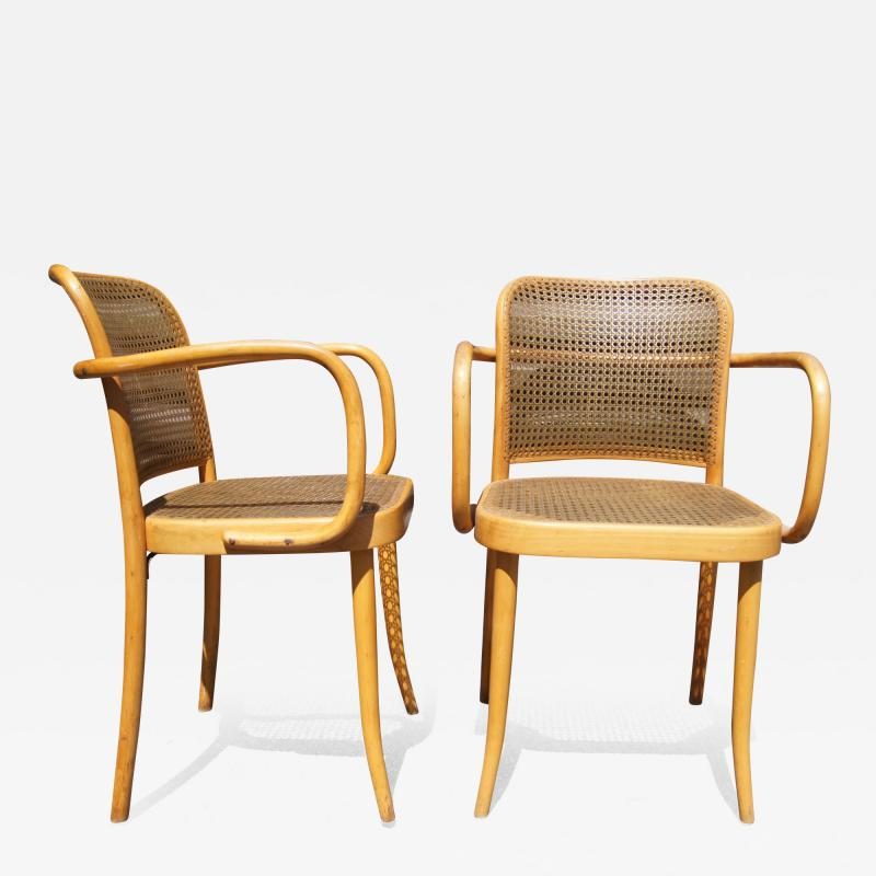 Josef Hoffmann Pair of Vintage Bentwood Armchairs by Joseph Hoffmann for Stendig