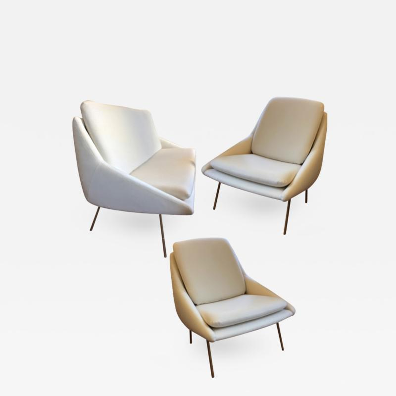 Joseph Andre Motte Joseph Andr Motte for Steiner Set of 1 Couch and 2 Chairs