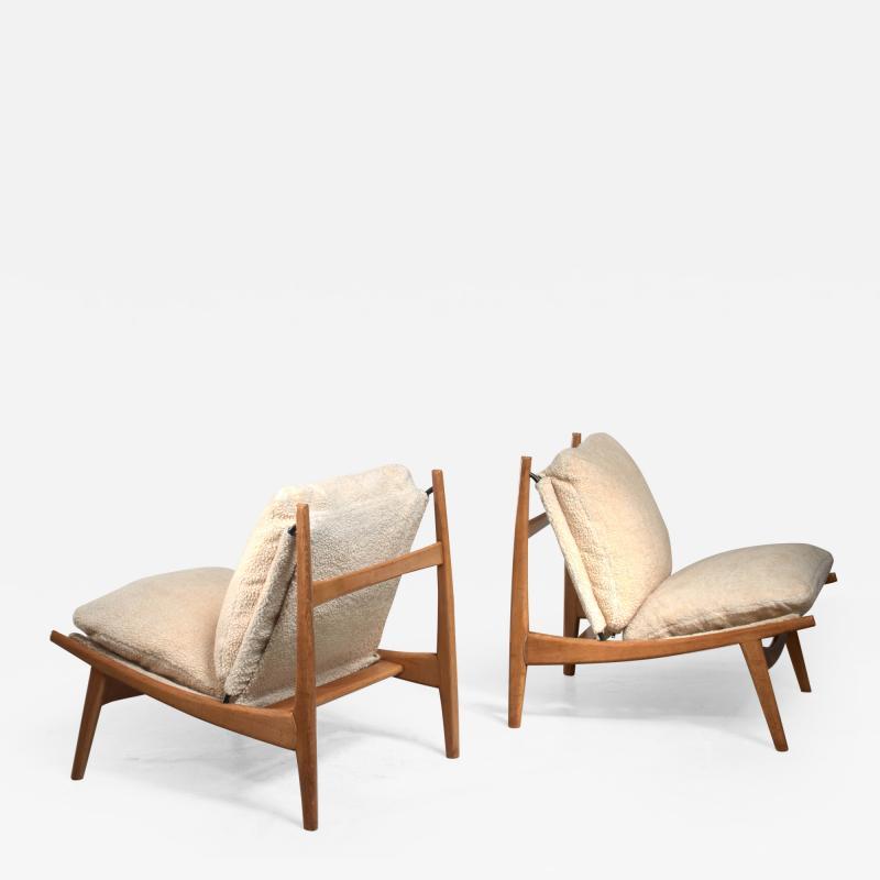 Joseph Andre Motte Joseph Andre Motte pair of chairs for Steiner