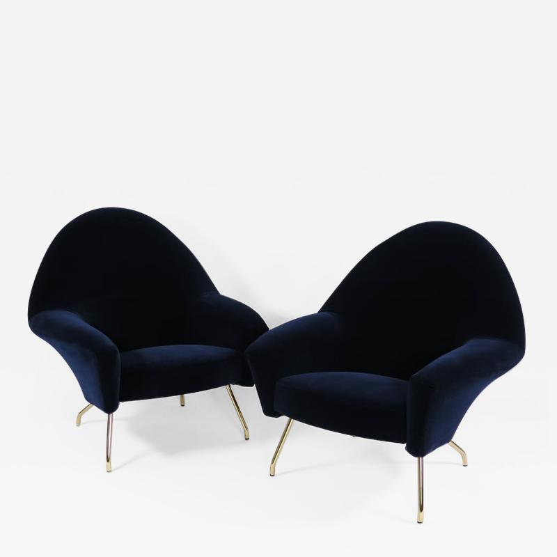 Joseph Andre Motte Pair of chic armchairs
