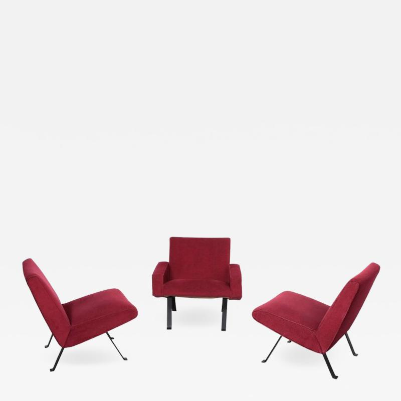 Joseph Andre Motte Rare Slipper Chairs by Joseph Andr Motte for Steiner France 1955