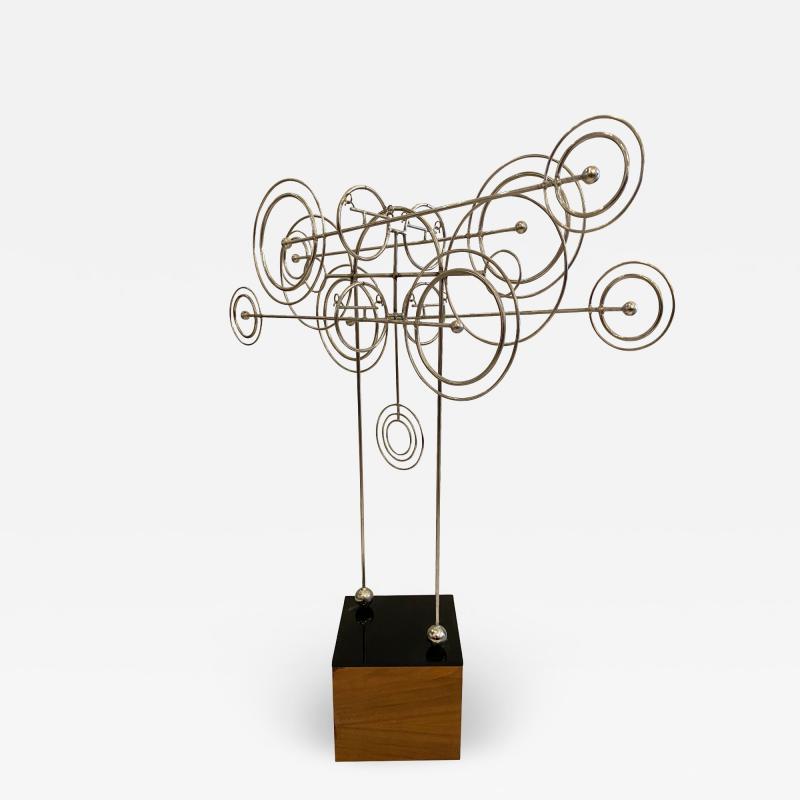 Joseph Burlini Kinetic Metal Sculpture by Joseph A Burlini