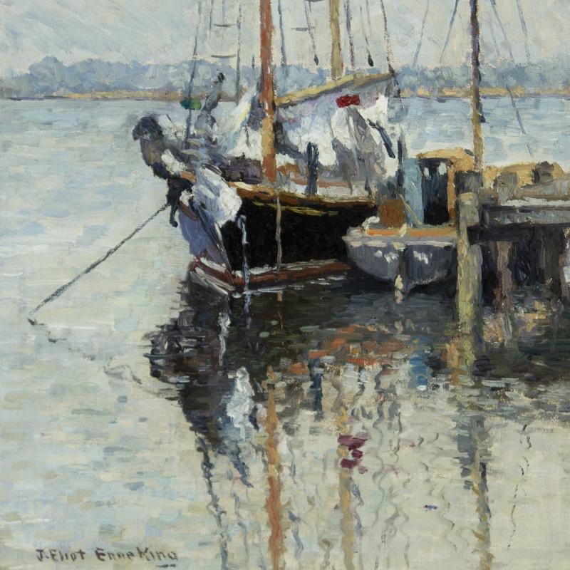 Joseph Eliot Enneking Boats Mystic Connecticut c 1926