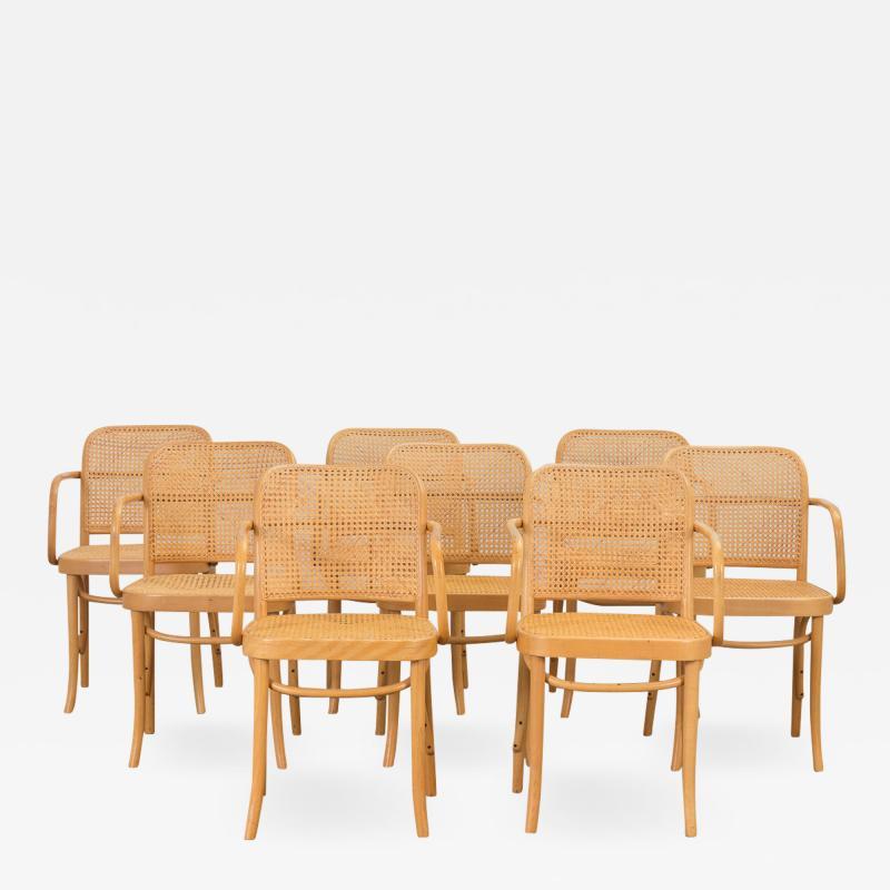 Joseph Hoffman Johnson Set of 8 Bentwood Chairs by Joseph Hoffman