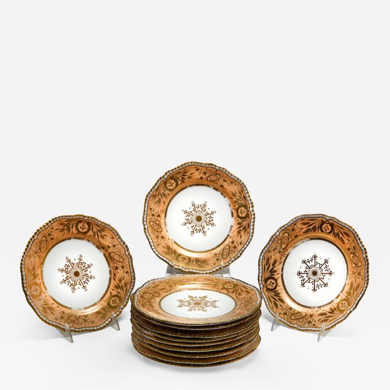 Josiah Spode II Set of Twelve Spode Dessert Plate