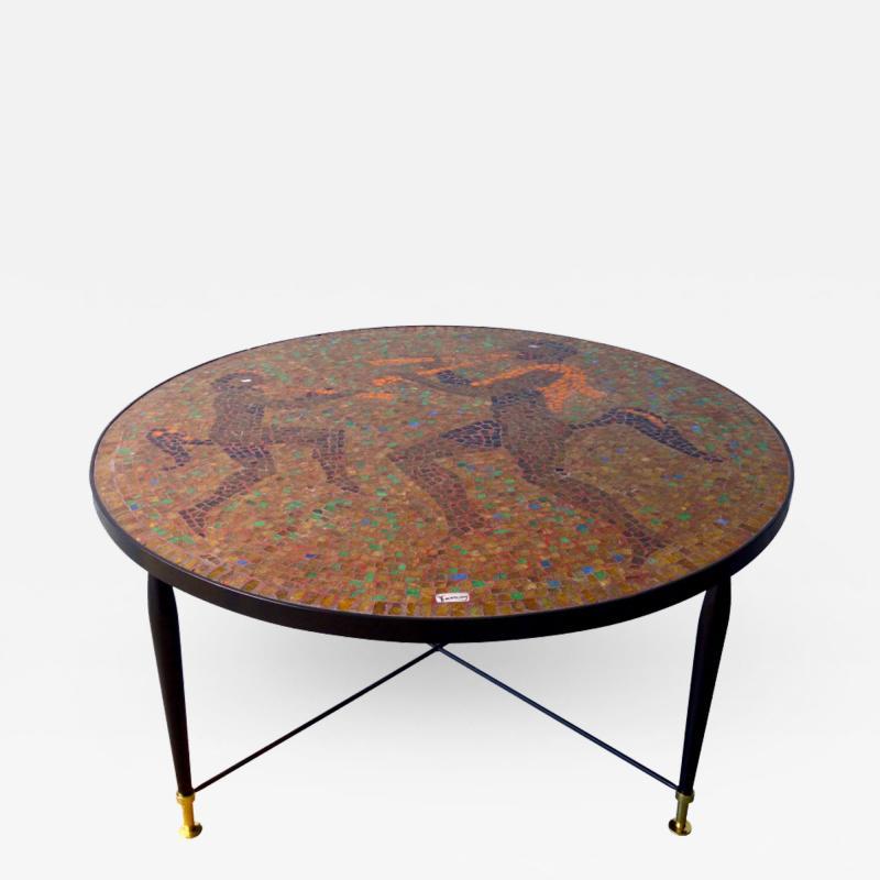 Juan O Gorman Glass Mosaic Table In the Style of Juan OGorman