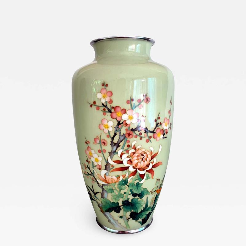 Jubei Ando A Japanese Cloisonne Vase by Ando Jubei Meiji Period