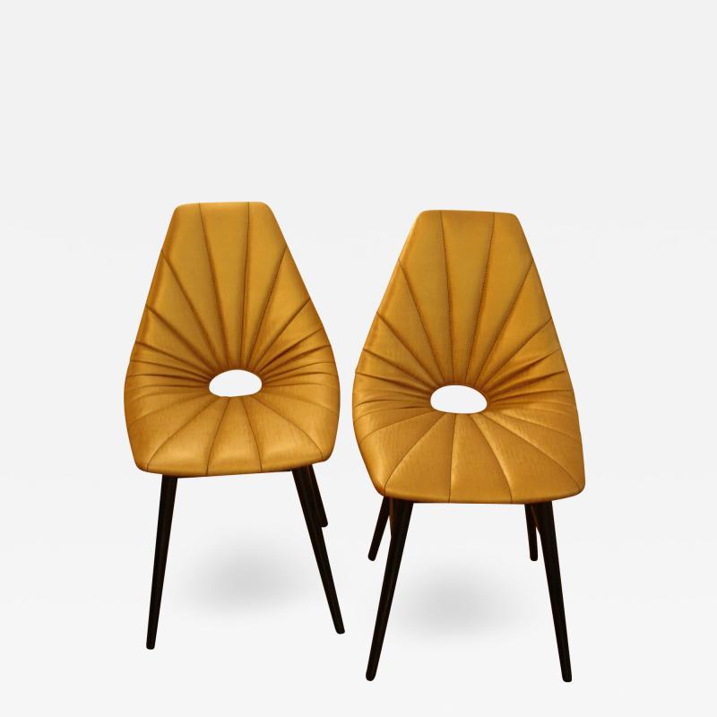 Judit Burian Mid Century Erika Chairs by Judit Burian