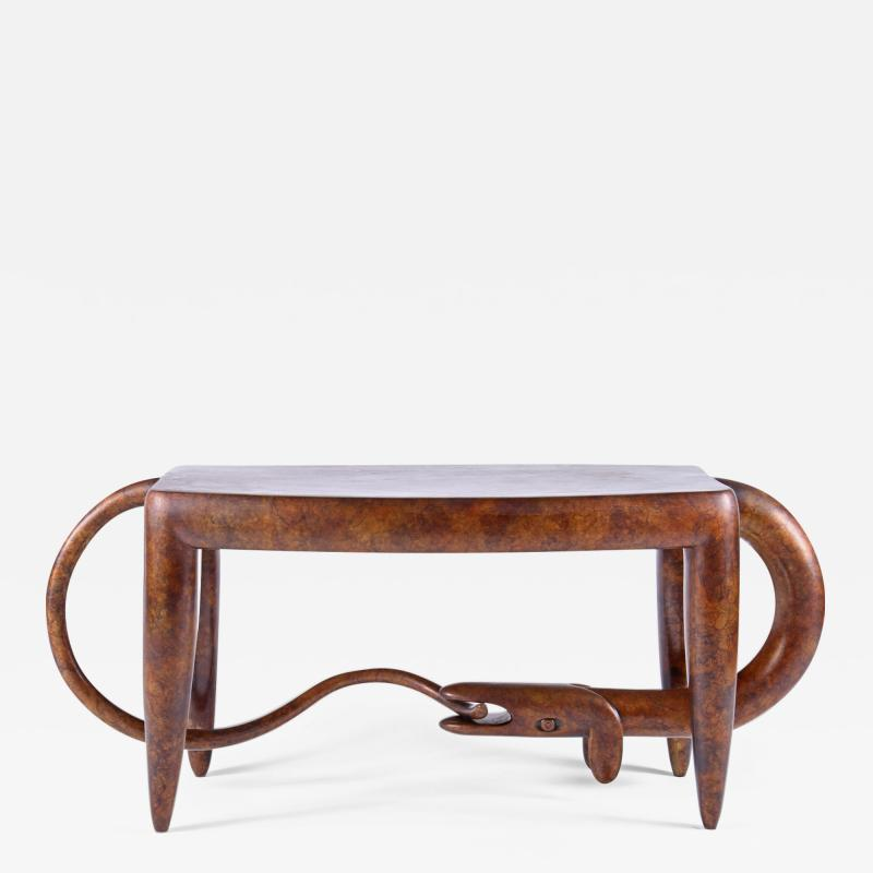 Judy Kensley Mckie Dog Bites Tail Table Bench