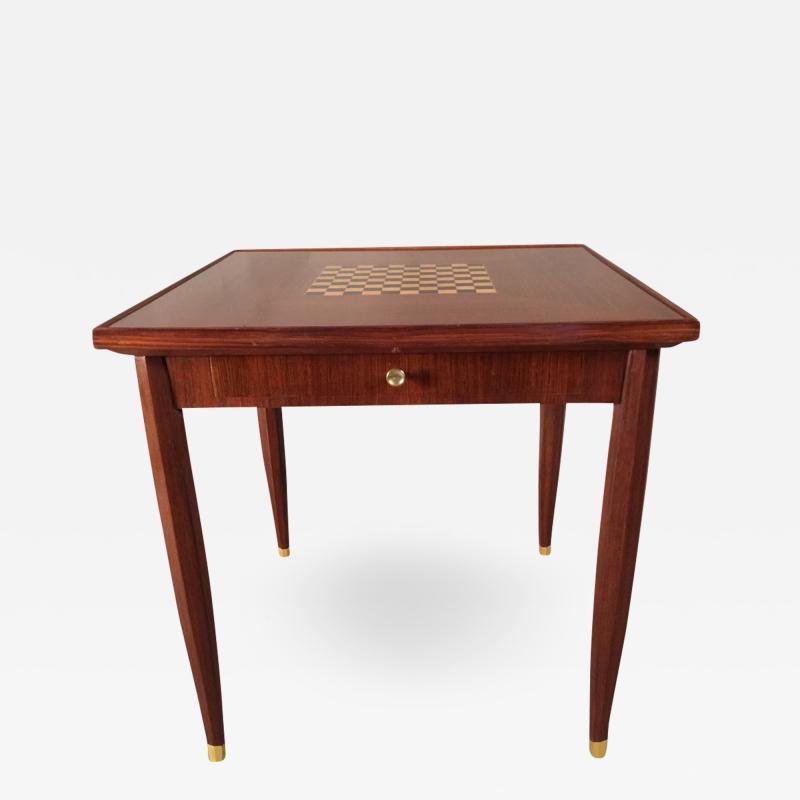 Jules Leleu Art Deco Game Table Signed Jules Leleu