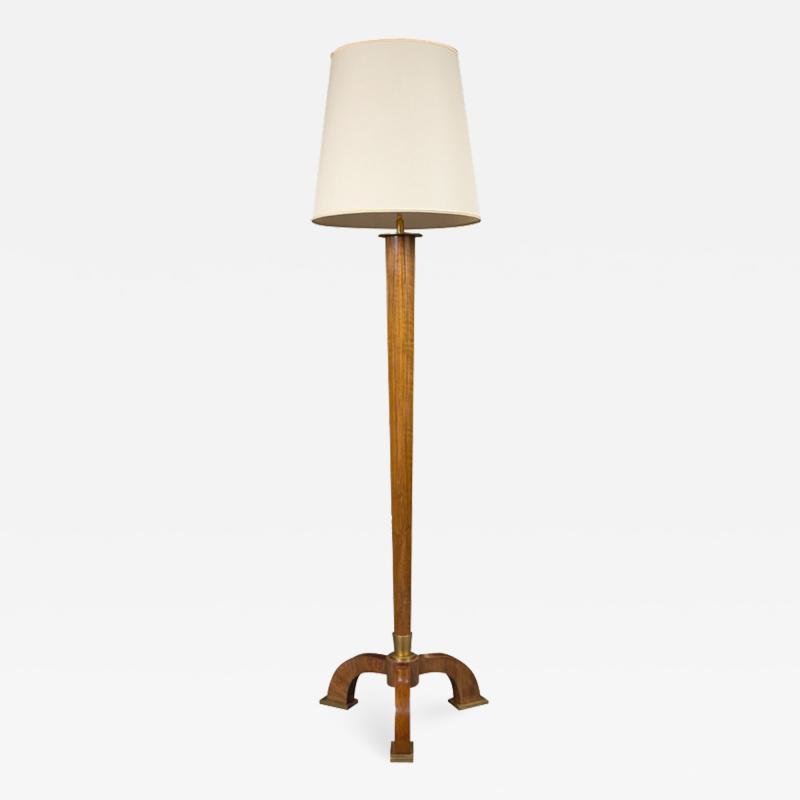 Jules Leleu Art Deco floor lamp by Jules Leleu