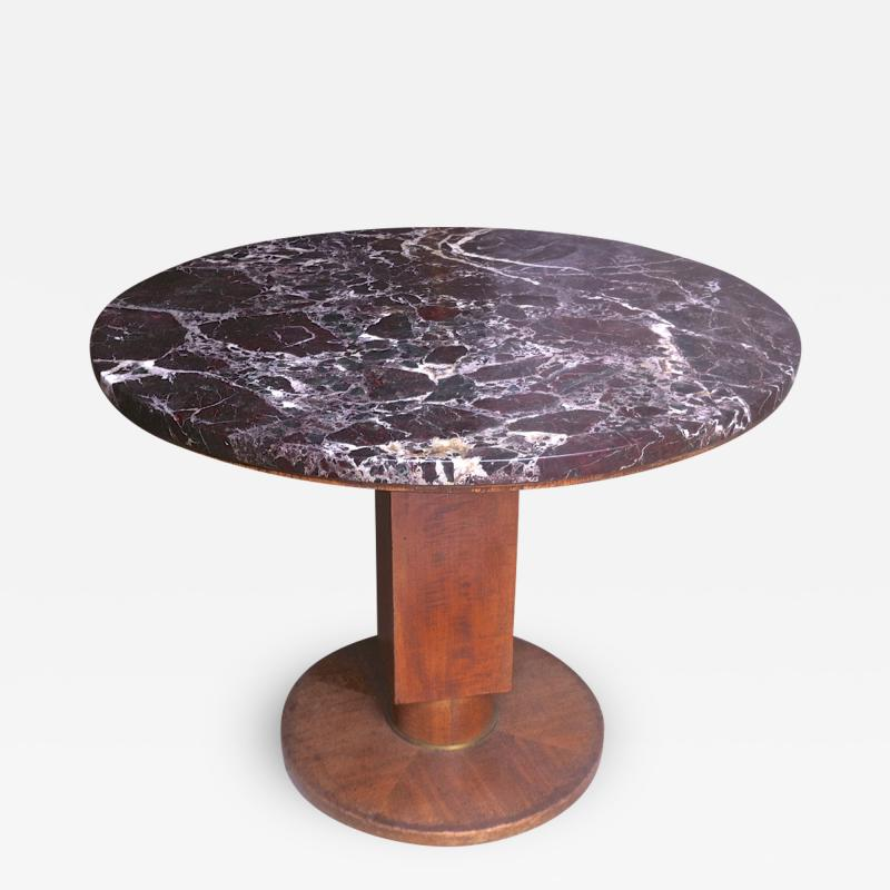 Jules Leleu Jules Leleu Signed Coffee Table with a Superb Marble Top