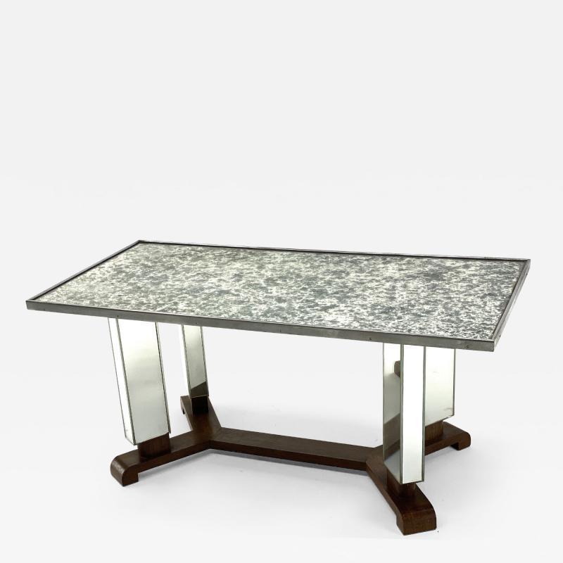 Jules Leleu Jules Leleu documented mirrored coffee table