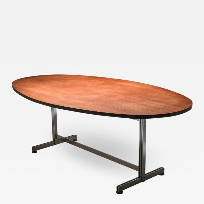 Jules Wabbes Jules Wabbes Oval Dining Table for Mobilier Universel 1960s