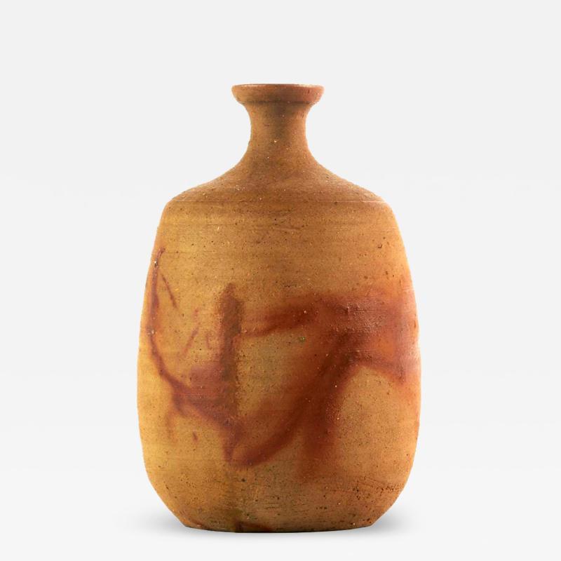 Jun Isezaki Modern Studio Vase Bizen Ware by Jun Isezaki