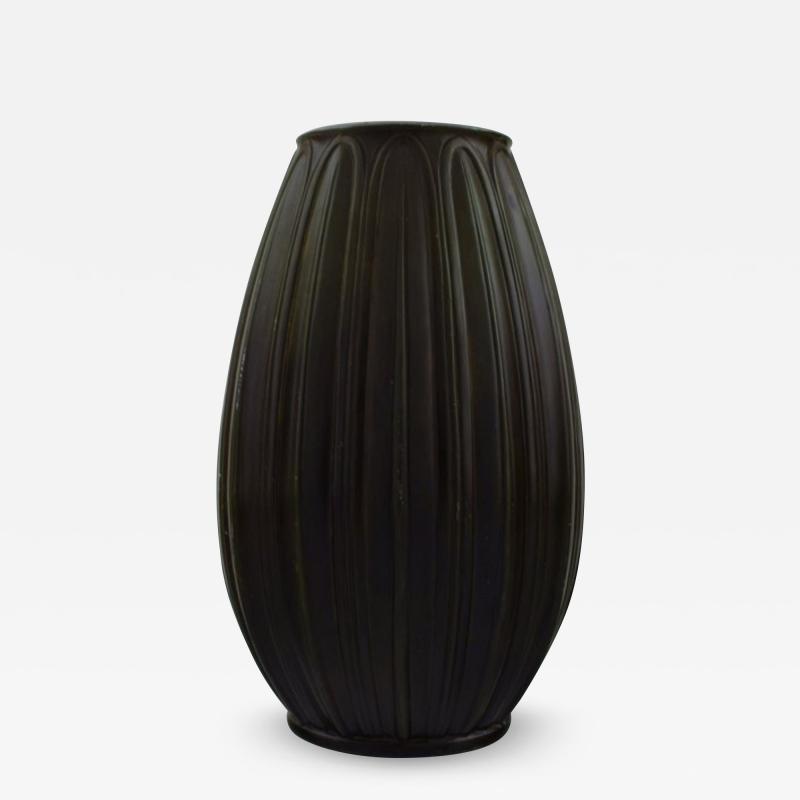 Just Andersen Art deco vase in disko metal