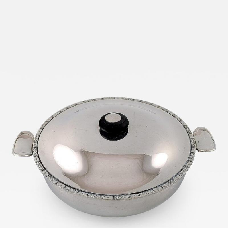 Just Andersen Lidded bowl with handles in sterling silver