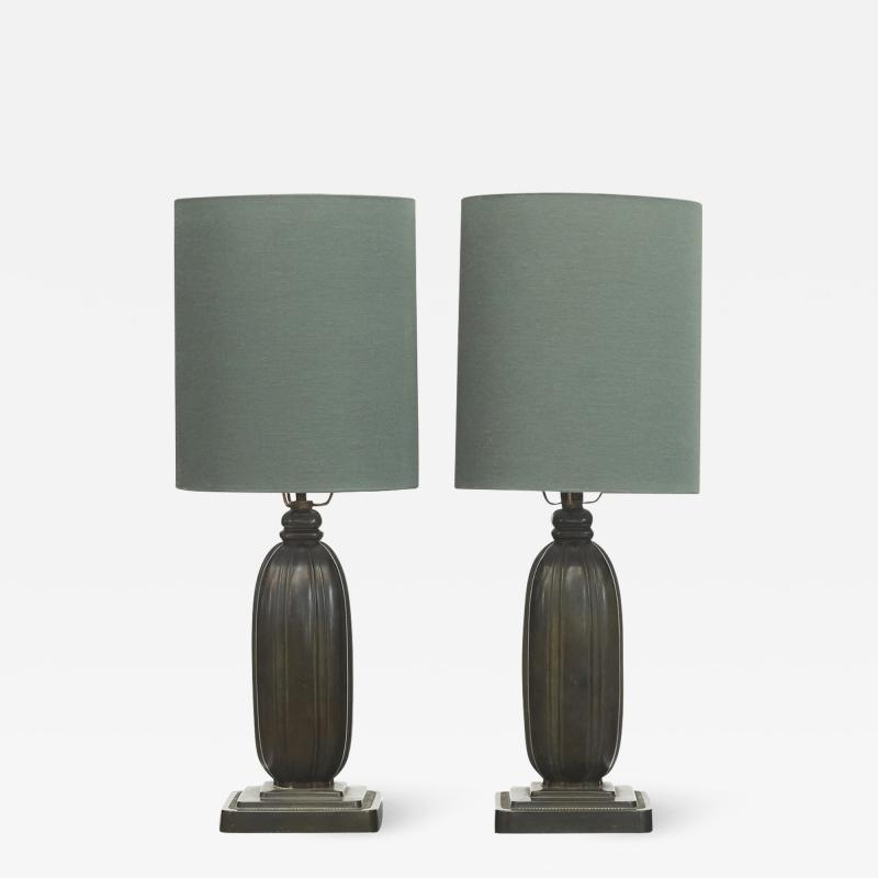 Just Andersen PAIR JUST ANDERSEN TABLE LAMPS