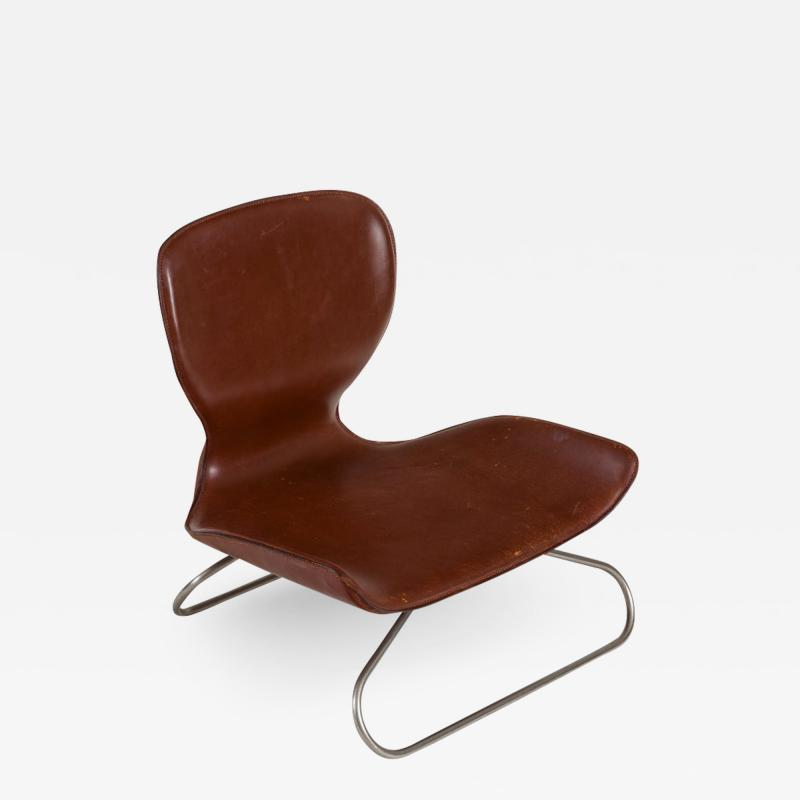 K 3 Low Leather Chair by Kirsten Jones Adam Bottomley for KOI