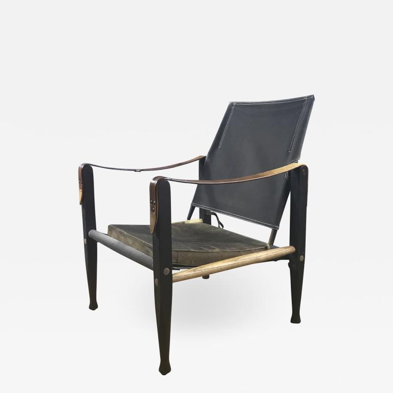 Kaare Klint Kaare Klint Safari Chair Canvas and Leather Rud Rasmussen