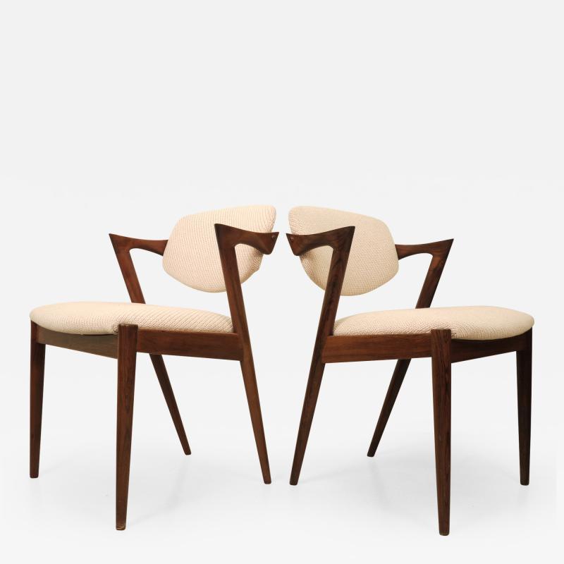 Kai Kristiansen KAI KRISTIANSEN rosewood dining chair circa 1956 Denmark