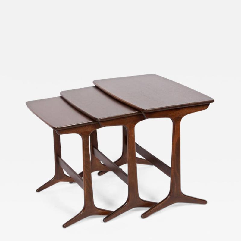 Kai Kristiansen Kai Kristiansen Set of Three Nesting Tables 1960s