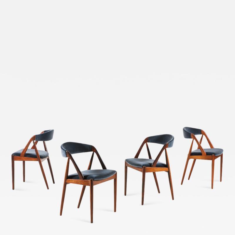 Kai Kristiansen Set of 4 Rosewood Dinning Chairs by Kai Kristiansen 1960s