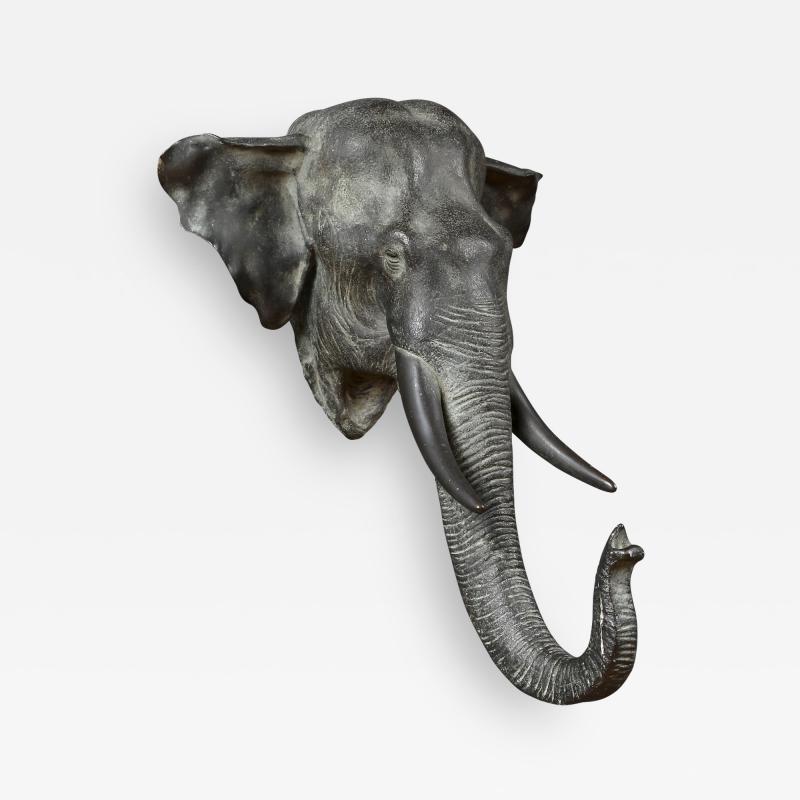 Kaneda Kenjiro An Exceptional Bronze Sculpture Of An Elephant Head Signed By Kaneda Kenjiro
