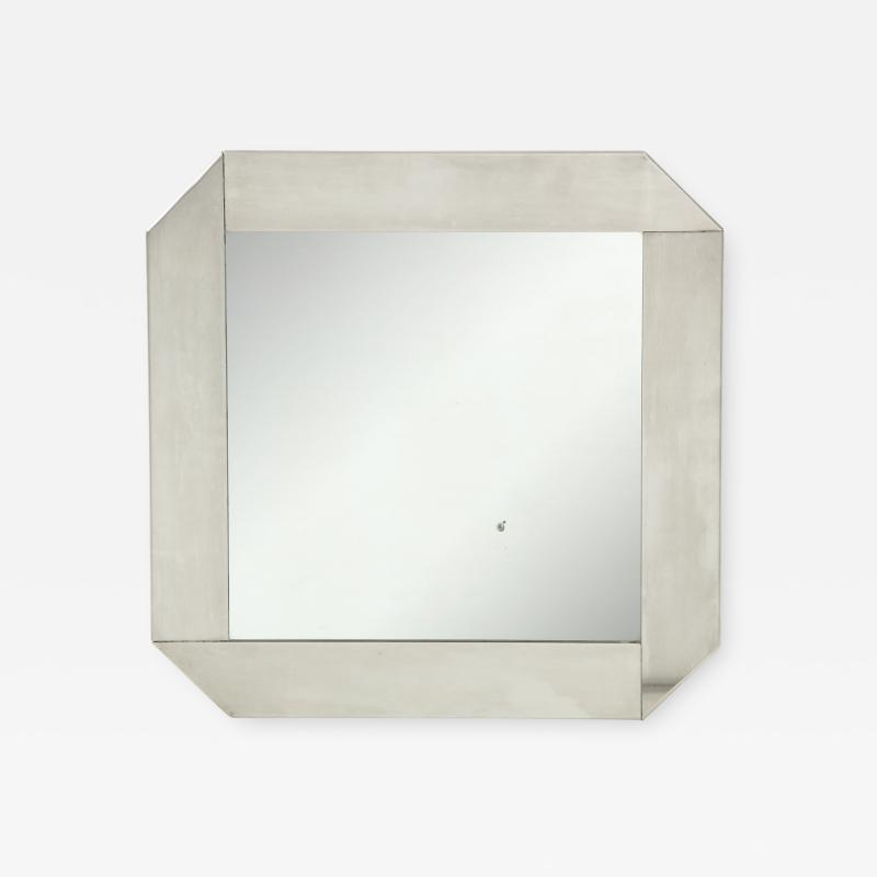 Kappa Modernist stainless steel mirror in the style of Kappa France 1970s
