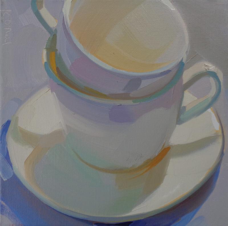 Karen O Neil Two White Cups